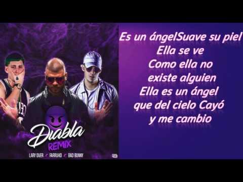 Letra Farruko Ft  Lary Over, Bad Bunny   Diabla Remix