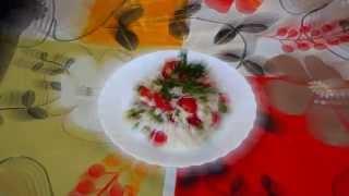 Салат из печени трески вкусный. Салат с печенью трески рецепт простой..