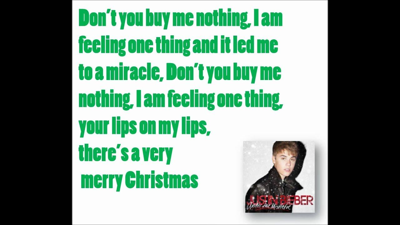 Mistletoe - Justin Bieber (Lyrics) - YouTube