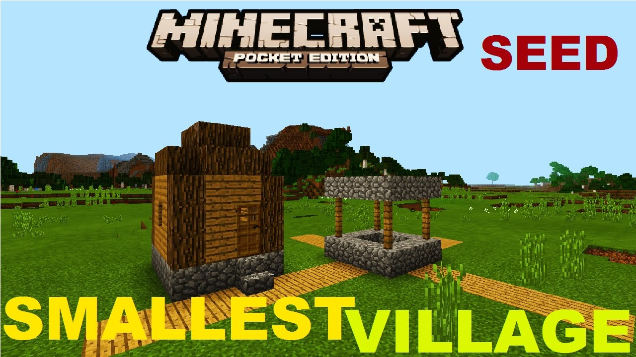 Mcpe 1 0 0 - Smallest Village Ever   Seed