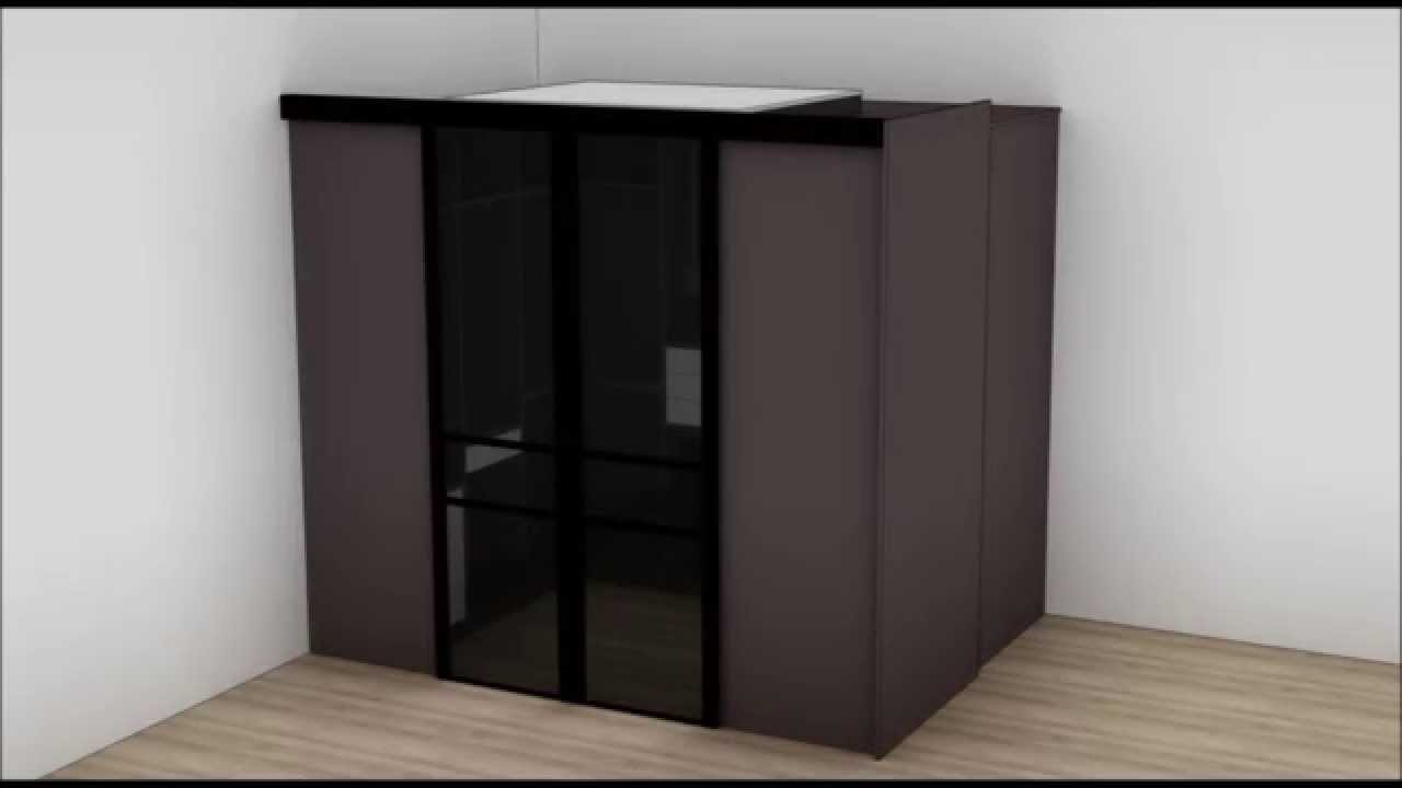 montage dressing en u youtube. Black Bedroom Furniture Sets. Home Design Ideas