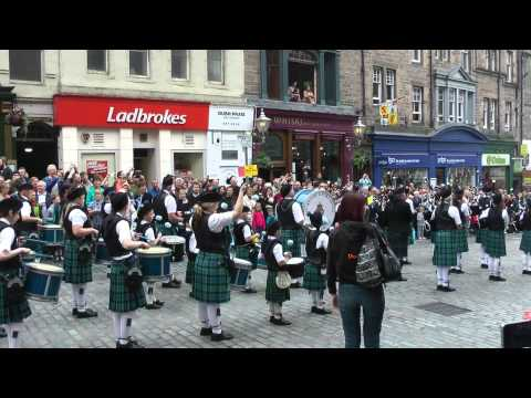 Massed Pipes and Drums in Edinburgh, Scotland