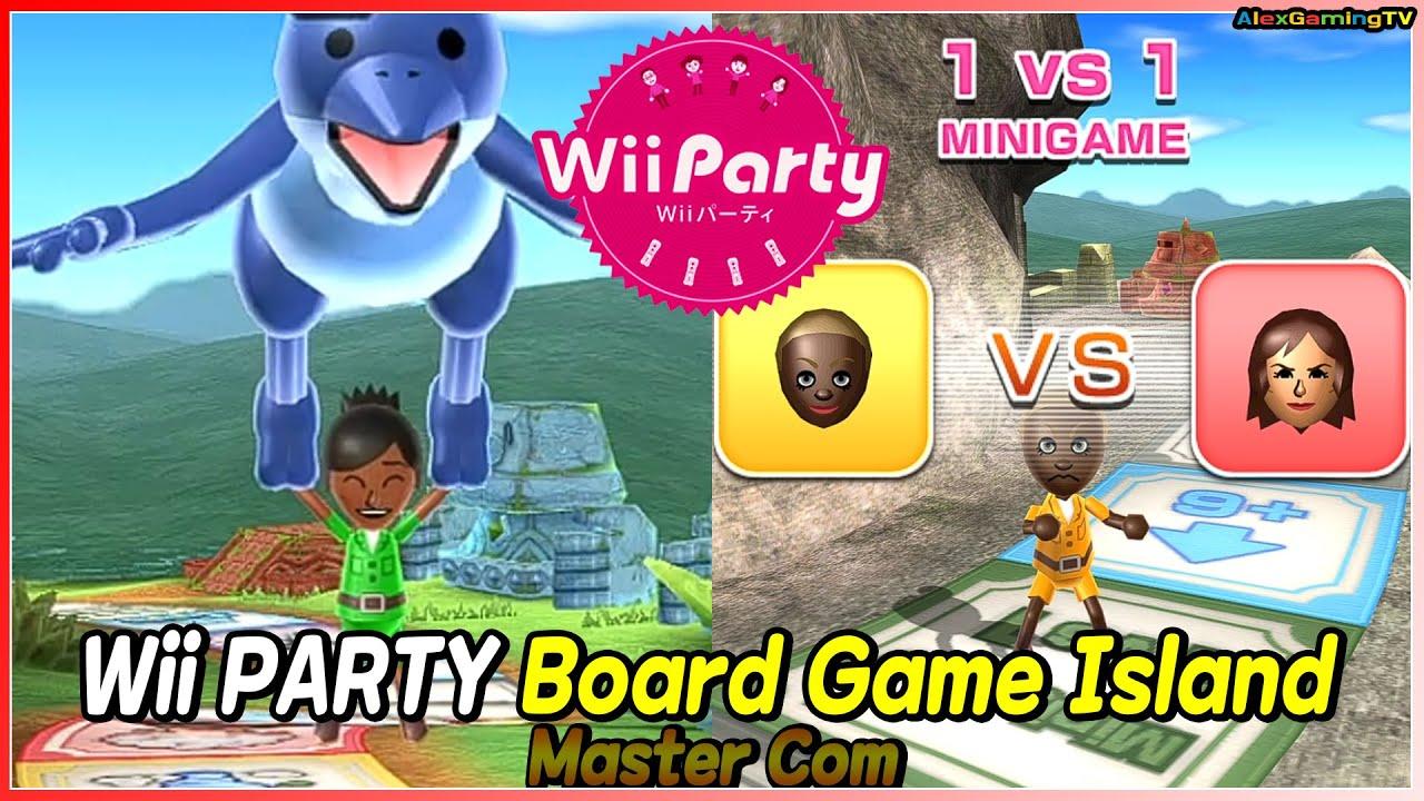 Wii Party - Board Game Island (Master com) Barabara vs Yoko vs Sakura vs Emma   AlexGamingTV
