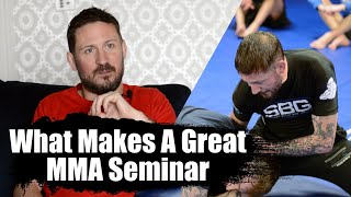 What Makes a Great MMA Seminar? • Win or Learn with John Kavanagh
