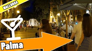 Palma de Mallorca Spain:  Evening and nightlife