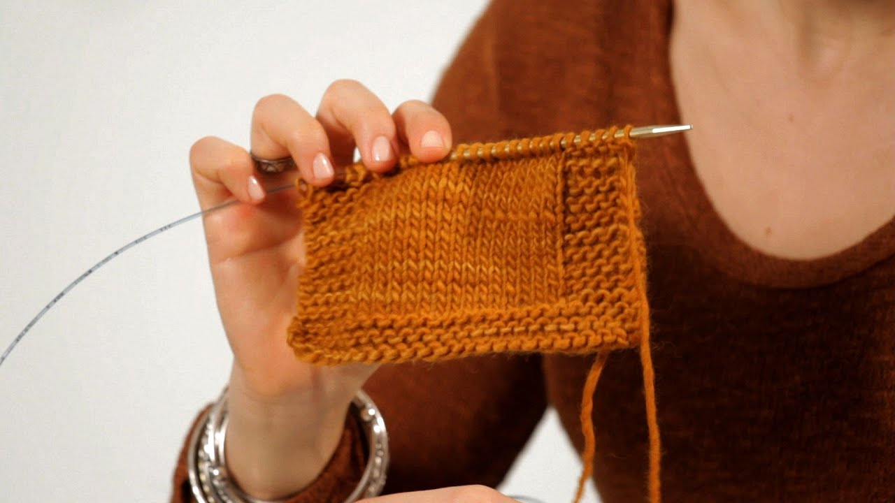 Knitting Edges Garter Stitch : How to make a border knitting youtube