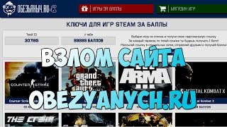 Взлом сайта obezyanych.ru
