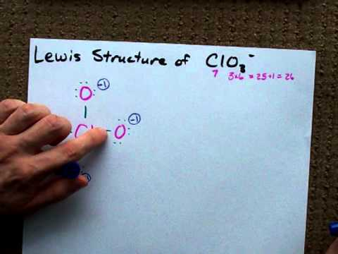 Lewis Structure of ClO3- (chlorate anion)