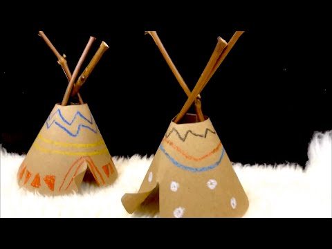 Native American Crafts For Kids - Tipi