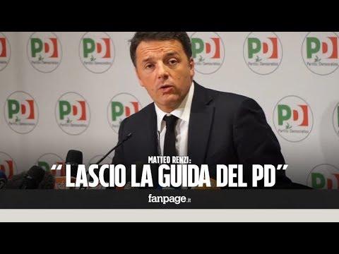 """Elezioni, Matteo Renzi annuncia: """"Lascio la guida del Pd: vi spiego perché"""""""