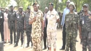 COMMANDER IN CHIEF AND SERVICE CHIEFS VISIT TROOPS IN NORTHEASTERN NIGERIA