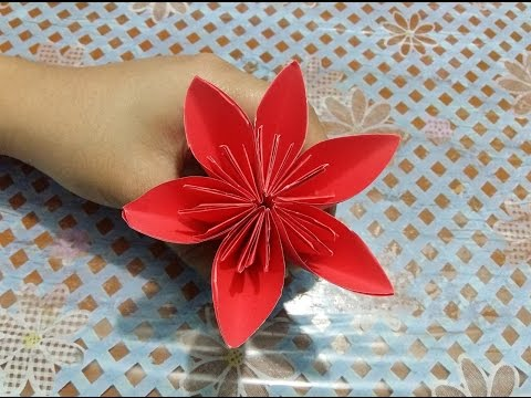 How to make 3d origami flower paper crafts tutorial youtube how to make 3d origami flower paper crafts tutorial mightylinksfo