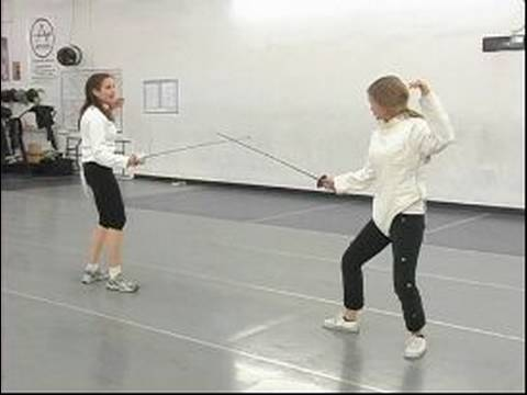 Advanced Foil Fencing Attacks & Strategy : Foil Fencing & Getting Out of a  Corner