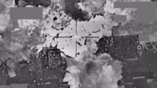 Coalition airstrike destroys Islamic State cash stockpile sending clouds of money into the air