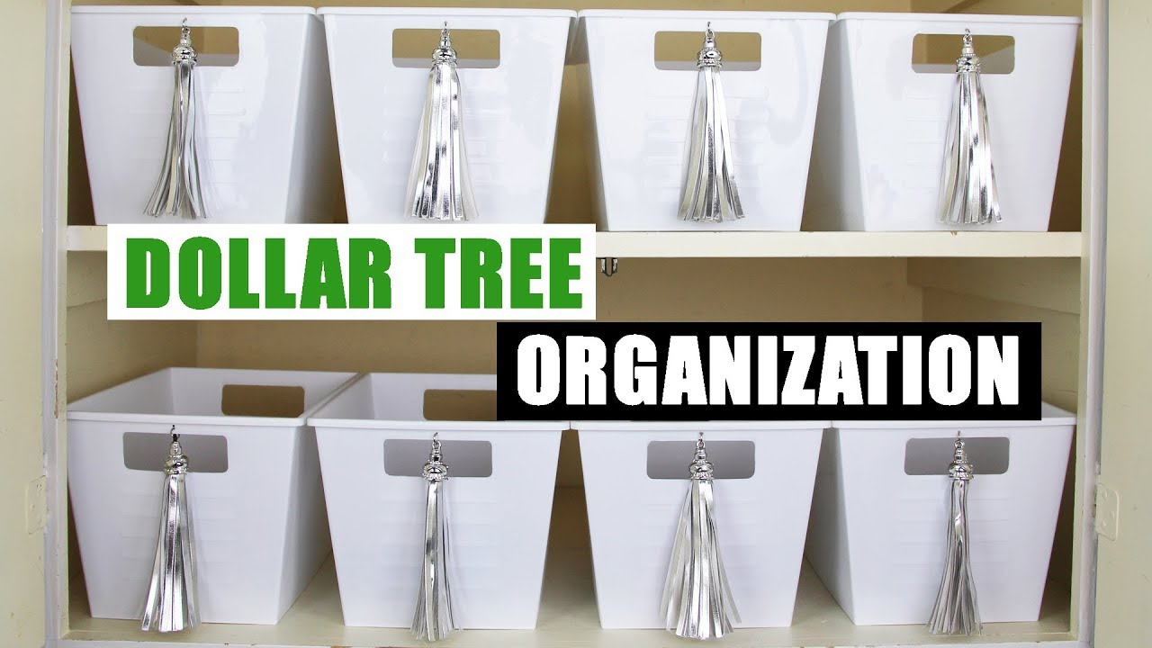 DIY DOLLAR TREE STORAGE BINS Dollar Store DIY Organizing DIY Home  Organization