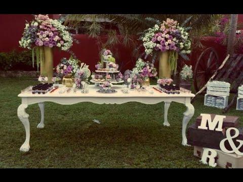 Mesa de dulces para bodas como adornar mesa de bocadillos for Mesa de dulces para boda