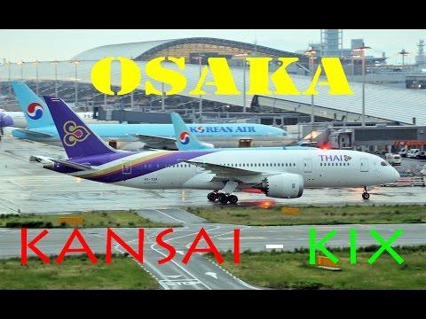 OSAKA KANSAI ( KIX - RJBB) 2016 : PLANE SPOTTING from THE SKY VIEW -- MOTION & STILL PICS