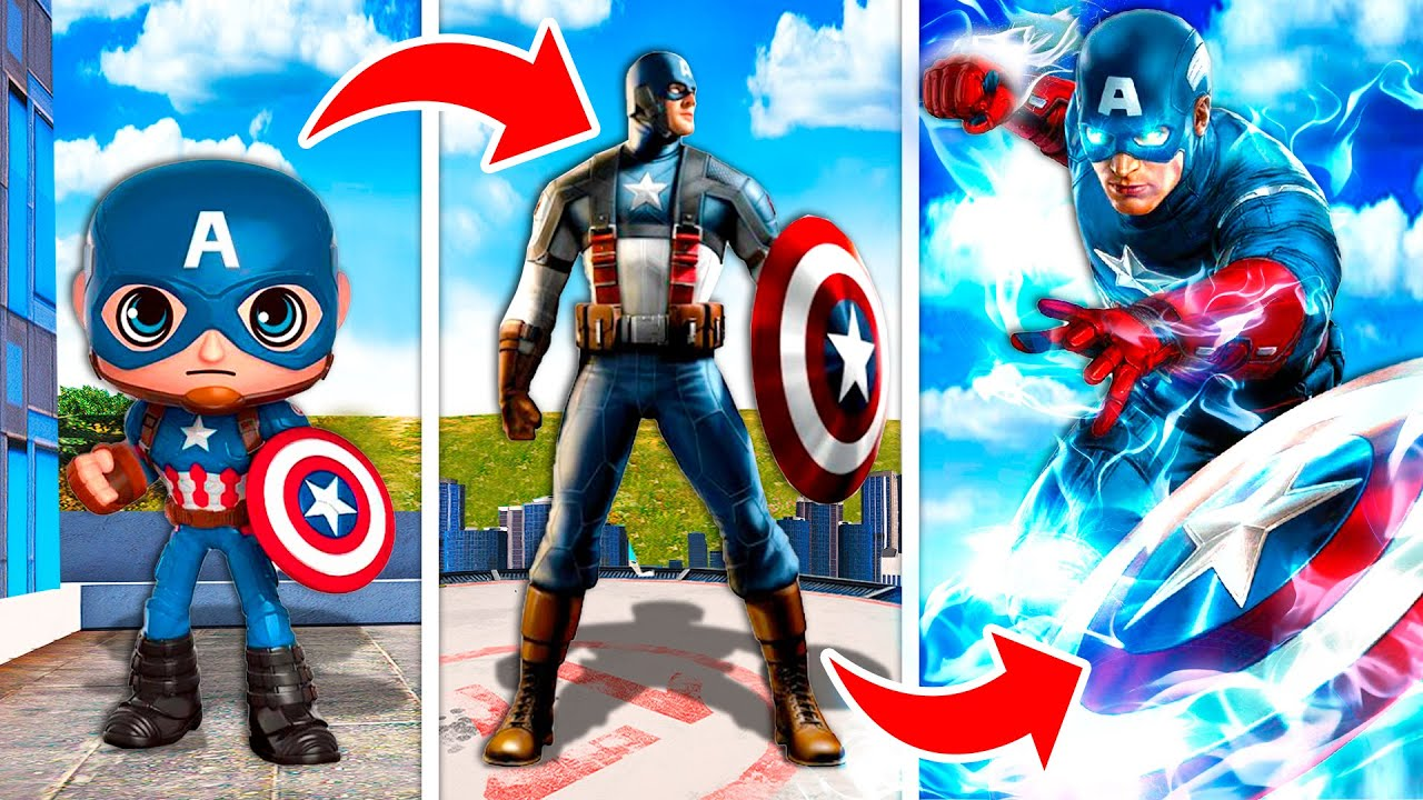 Upgrading CAPTAIN AMERICA Into A GOD In GTA 5! (Mods)