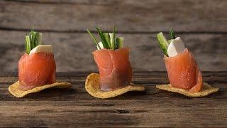 Рулетики из Семги с Крем-сыром и Огурцом || FOOD TV Простой и Быстрый Рецепт