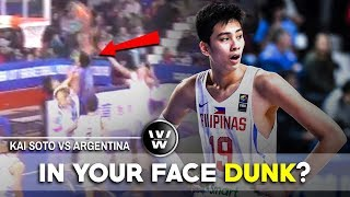 Kai Sotto Highlights vs Argentina | IN YOUR FACE DUNK?
