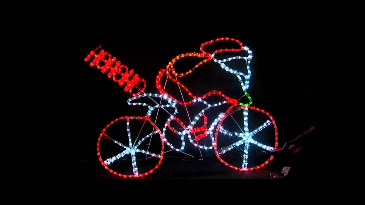 Led flashing santa bike xmas rope light multi youtube led flashing santa bike xmas rope light multi aloadofball Gallery