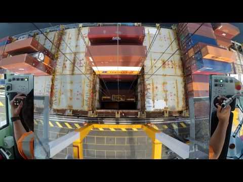 Operating a  Liebherr STS Gantry Crane