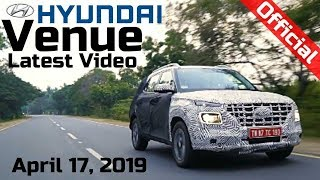 Hyundai VENUE Official Video Latest before LAUNCH | FIRST LOOK | India Unveil on 17 April 2019 🔥