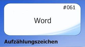 Word #061 Aufzählungzeichen [deutsch]