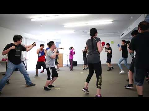 Roland's boxing class was packed!