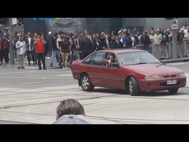 Car filmed driving erratically before mowing down pedestrians in Melbourne