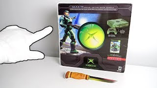 "Original Xbox ""HALO"" Console Unboxing (Limited Edition) + Halo: Reach Collector's Edition"