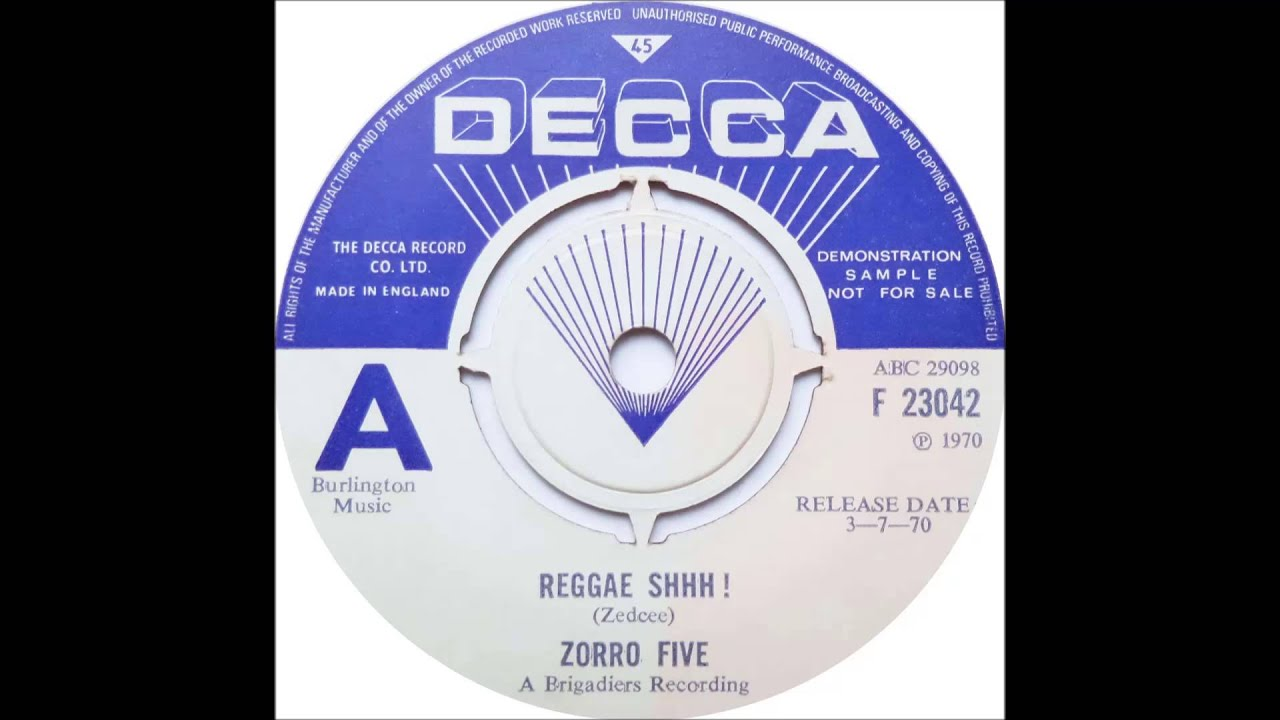 Zorro Five Reggae Shhh Reggae Meadowlands