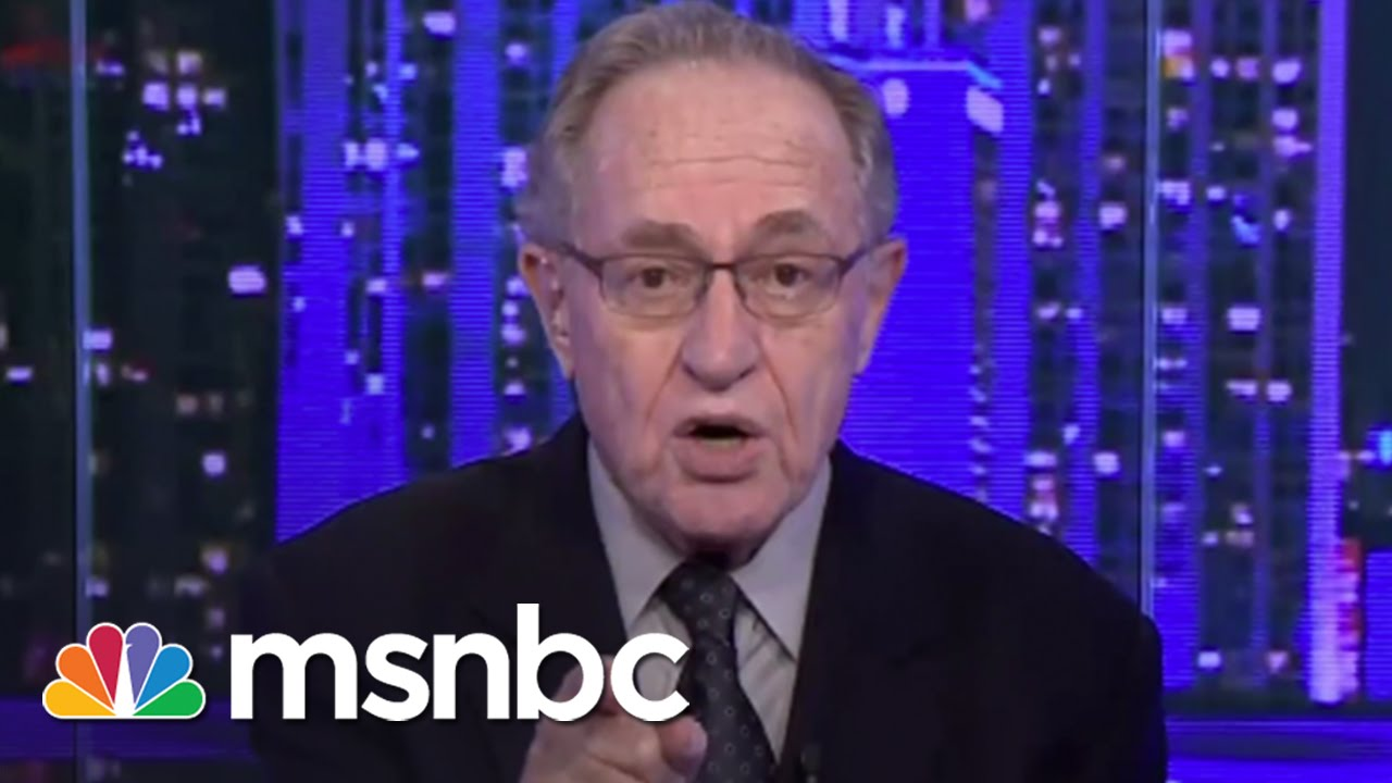 Lawyer Alan Dershowitz Draws Line On His Role In Trump ...