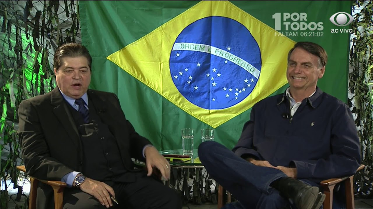 Datena entrevista o presidente eleito Jair Bolsonaro