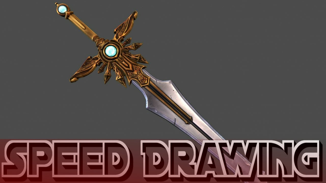 how to draw a epic sword