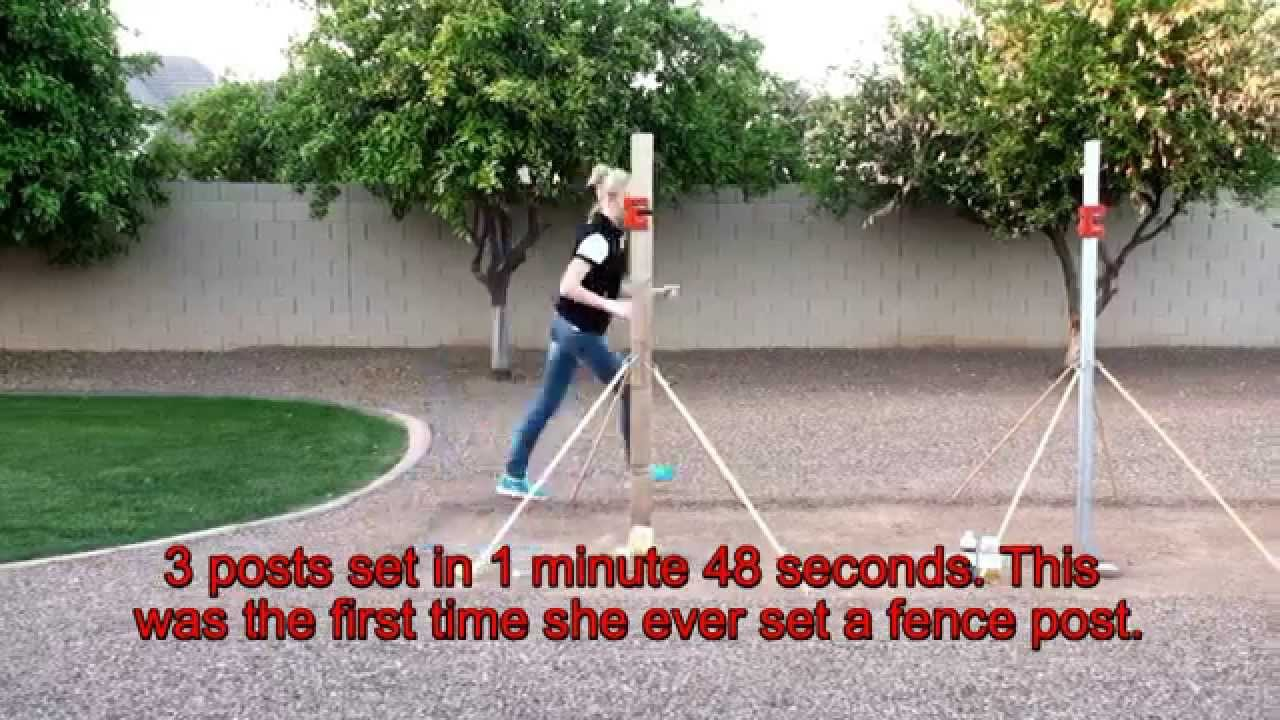 Install Fence Posts Fast Easy