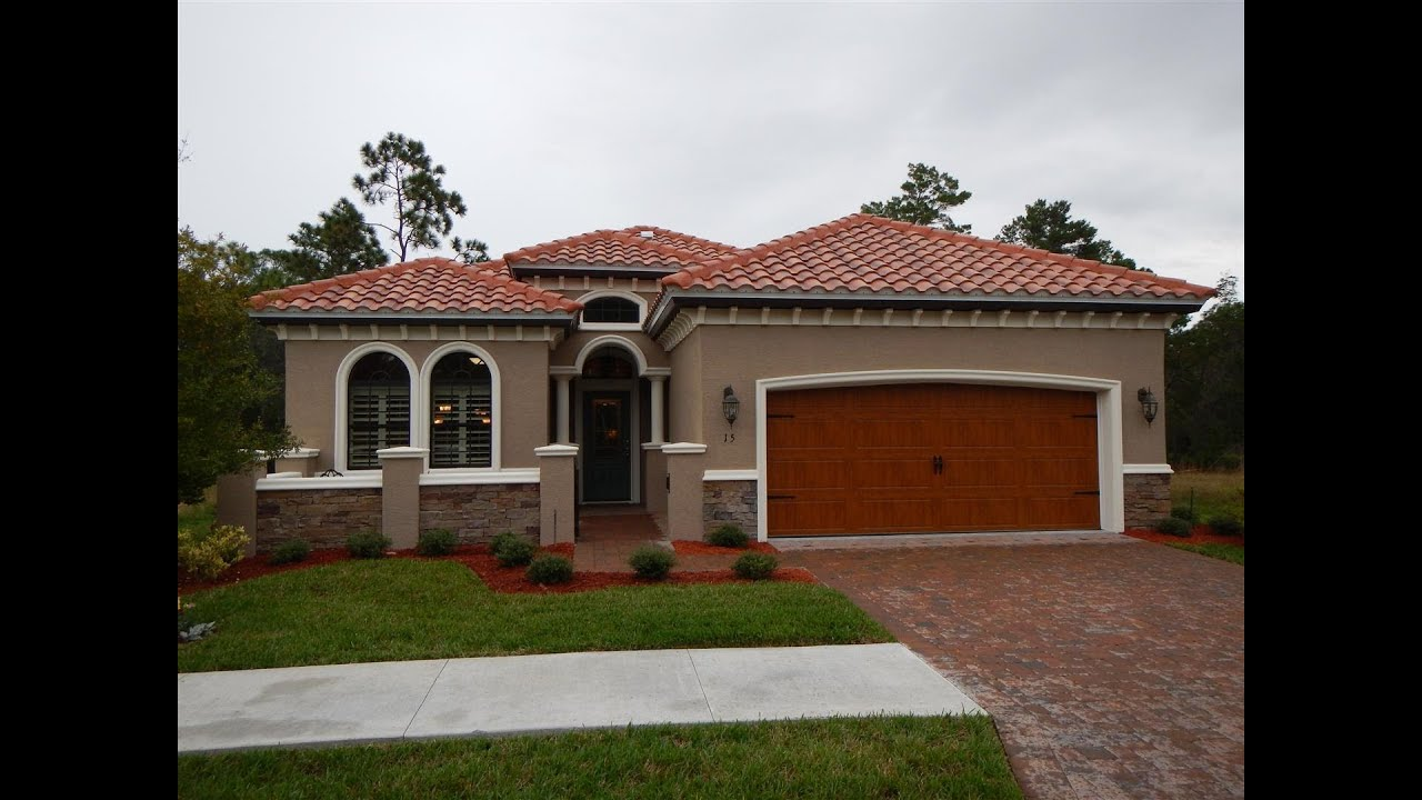 Ormond Beach Florida New Home Model For Vanacore Homes In Villaggio Subdivision You