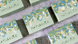 小碎花渲染 - drop swirl technique handmade soap - 手工皂