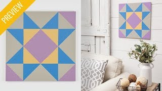 Paint a Quilt Wall Hanging   Annie's Creative Studio   PREVIEW