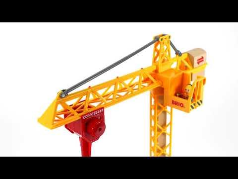 BRIO World - 33835 Light Up Construction Crane