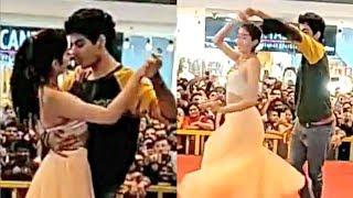 Jhanvi Kapoor Romantic Dance With Boyfriend Ishaan Khattar In Pune - Dhadak Promotion