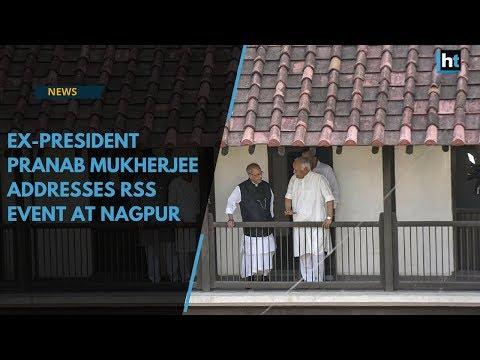 Watch: Ex-president Pranab Mukherjee addresses RSS event at Nagpur