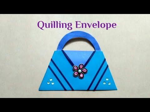 Quilling Mini Paper Purse Envelope   Quilling Shagun Envelope