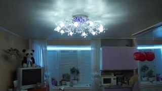 Переделка люстры с галогенными лампами G4 на светодиодные(В нашем интернет магазине http://solbatcompany.ru/ Вы можете купить светодиодные лампы, светодиодные линейки и модули,..., 2013-11-23T18:37:01.000Z)