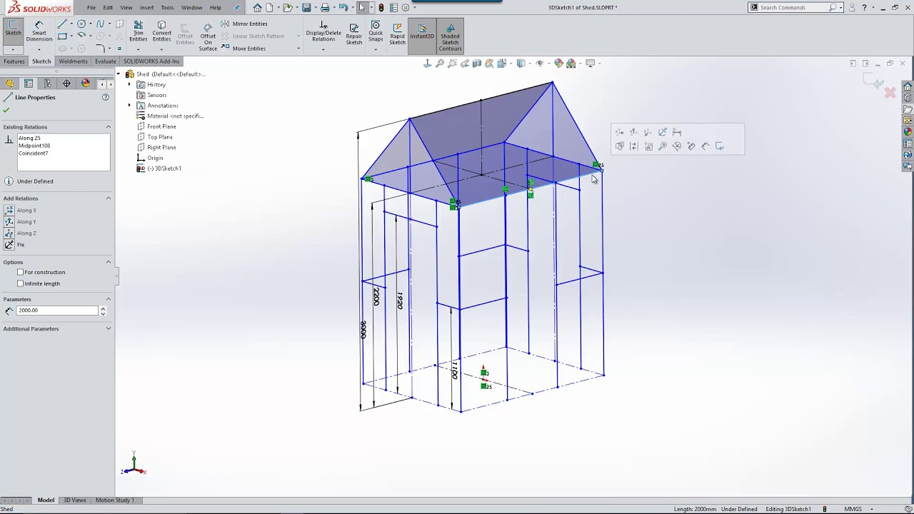 3D Sketch Mirroring in SOLIDWORKS 2018