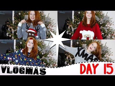 Vlogmas Day 15 2016, Favourite Christmas Jumpers, Poundland Stocking Filler Ideas, Vlogmas | NiliPOD
