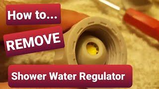 How to remove Waterpik shower head water flow regulator!!!