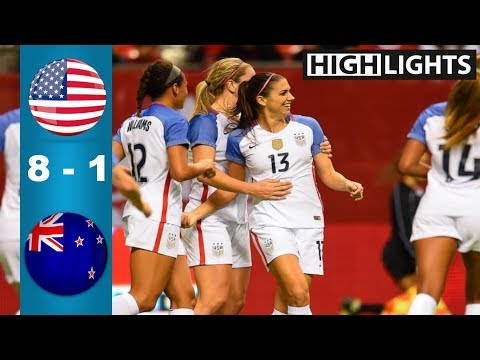 USA vs New Zealand 8 - 1 All Goals & Highlights   Last 2 Games