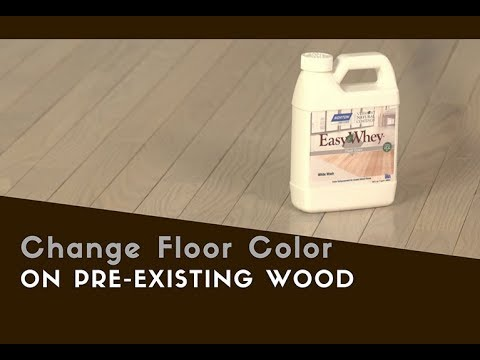 how to change wood floor color