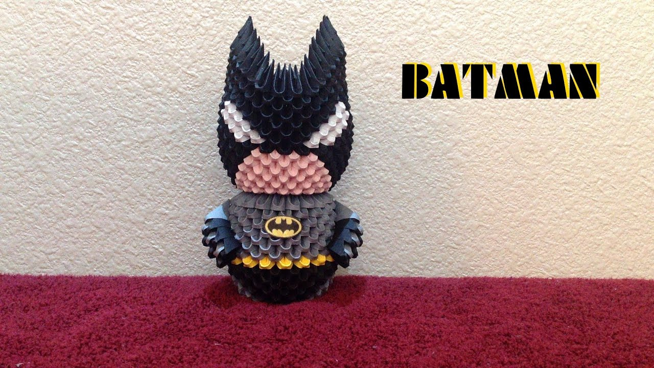 3d Origami Batman Tutorial Youtube